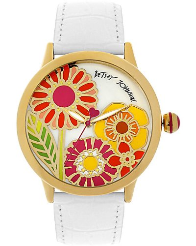 Betsey Johnson Flower Face Watch