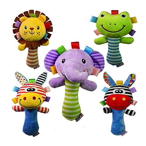 Rabbit Malls, 1pc Infant Kids Sound Music Gift Baby Rattle Soft Musical Plush Animal Toys brinquedos by Rabbit (Can Can Sally Child Costume)