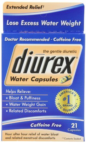 Diurex Extended Relief Water Capsules, 21 Count Capsules