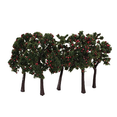 scenario-10pcs-modello-paesaggio-decorazione-alberi-da-frutto-rosso-12-centimetri