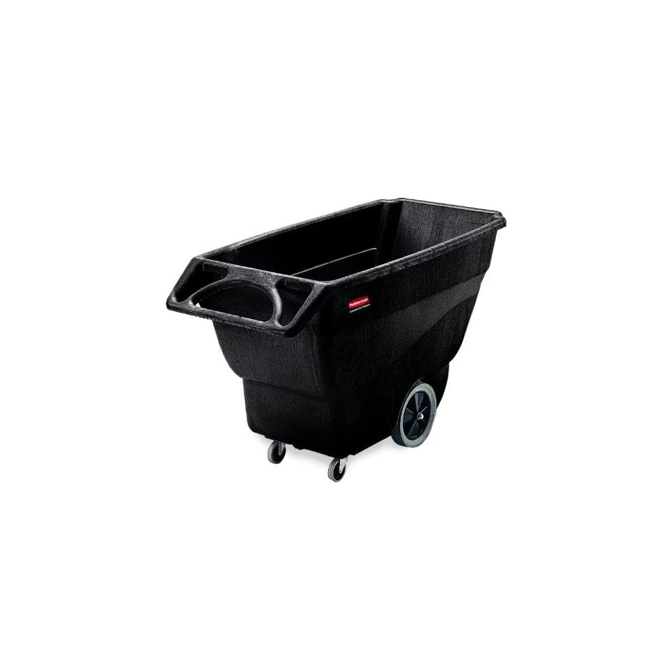 Rubbermaid Commercial HDPE Box Cart with Steering Wheel, Black, 1000 lbs Load Capacity, 38 Height, 64 1/2 Length x 30 1/4 Width