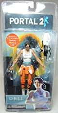NECA Portal 2 Chell Figure with light-up Portal Device