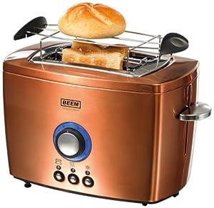 BEEM Germany Nobilis 2-Schlitz Toaster, Copper-Style