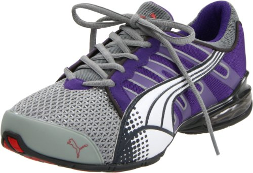 PUMA Women's Voltaic 3 Fashion Sneaker,Limestone Grey/Heliotrope/White,9.5 B US