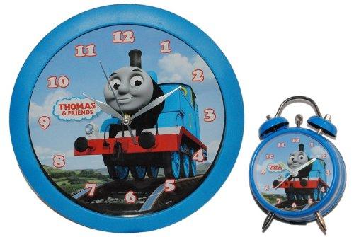 2 tlg. Set Wanduhr + Wecker Thomas and Friends blau 28,5 cm groß Uhr Kinderzimmer und seine Freunde bestellen