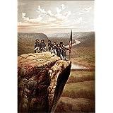 "Alu Dibond 60 x 90 cm: Vintage Civil War print of Union soldiers on the summit of Lookout Mountain. von John Parrot / Stocktrek Imagesvon ""John Parrot"""