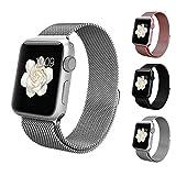 アップルウォッチ バンド Apple watchベルト マグネット 式 ミラネーゼループ BRG ステンレス 留め金製 メッシュ ベルト ( 38mm , シルバー )