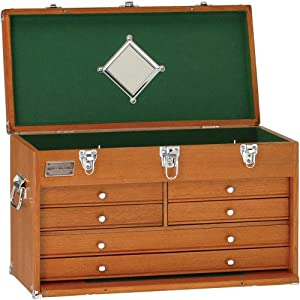 Grizzly H7713 Oak 6 Drawer Chest, 23-Inch