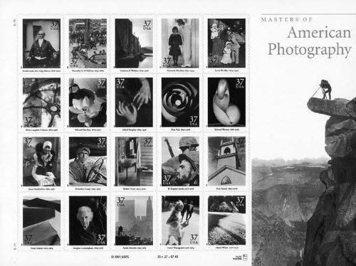 Masters of American Photography Collectible Sheet of 20 37 Cent Stamps Scott 3649