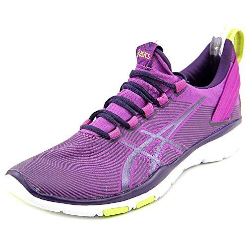 ASICS Women's Gel Fit Sana 2 Fitness Shoe, Grape/Dark Berry/Flash Yellow, 9 M US