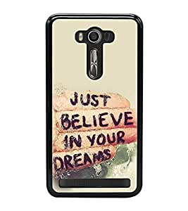 Life Quote 2D Hard Polycarbonate Designer Back Case Cover for Asus Zenfone 2 Laser ZE500KL (5 INCHES)