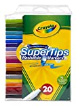 Crayola Washable Markers, Super Tips, 20 markers