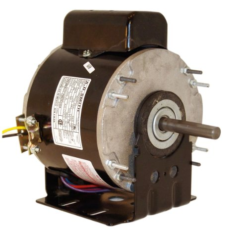 A.O. Smith Us1016 1/6 Hp, Psc, Teao Enclosure, 2.8 Amps, 1/2-Inch By 2-3/8-Inch, Reversible Rotation, Sleeve Bearing Unit Heater Motor