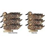 Greenhead Gear Pro-Grade Duck Decoy,Blue-Winged Teal/ Early Season Hen Pack,1/2 Dozen 73126