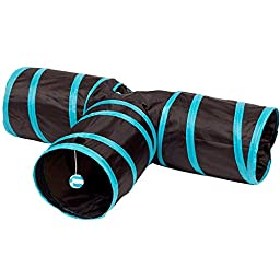 Enjoying Kitten Cat Tunnel 3 Way Pet Agility Train Tunnel Toy Collapsible