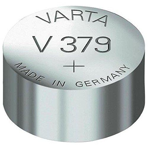 VARTA Lot de 4 piles oxyde argent pour montres, V379 (SR63), 1,55 Volt