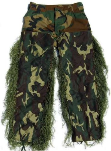 Ghilliesuits Synthetic Ultra Light Sniper Leafy Green Bdu Pants Small