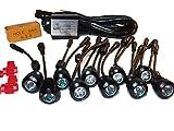 デイライト 1W × 10連 LED 防水 バンパー 埋め込み 型 ウィンカー 連動 減光 可能 おしゃれ 走り屋 モテ オリジナル 独創性 ブラック
