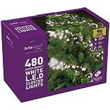Brite Ideas Festive 480 Multiaction Cluster LED Lights, White