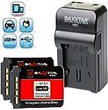 Baxxtar RAZER 600 Ladegerät 5 in 1 + 2x Baxxtar PRO Energy Akku für -- Sony NP-BX1 -- passend zu Sony CyberShot DSC RX100 RX100 II RX100 III RX1 RX1r HX50V HX60 HX60V HX300 HX400 H400 WX300 WX350 -- HDR PJ240E PJ240 CX240E AS15 AS20 AS30 AS100VR GW66VE -- (70% mehr Leistung 100% mehr Flexibilität) NEUHEIT mit Micro-USB Eingang und USB-Ausgang, zum gleichzeitigen Laden eines Drittgerätes (GoPro, GoPro Fernbedienung, iPhone, Tablet, Smartphone..usw.)