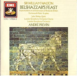 writing at belshazzars feast by william walton