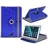 (Blue) Alcatel OneTouch Pixi 3 8 [8 inch ] Case [Stand Cover] for Alcatel OneTouch Pixi 3 8 [8 inch ] Tablet PC Case Cover Tablet [Stand Cover] Durable Synthetic PU Leather 60 Roatating cover Case [Stand Cover] with 4 springs by i- Tronixs