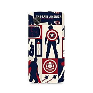 Ebby Captain America Collage Premium Printed Case For LG Nexus 5