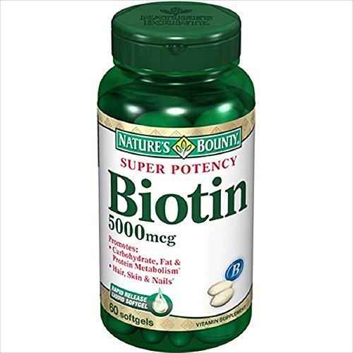 Nature'S Bounty Biotin 5000Mcg Super Potency Capsules 60 Ea