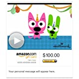Amazon Gift Card - E-mail - Hoops and Yoyo Cake Face (Animated) [Hallmark]