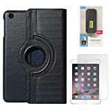 DMG Full 360 Rotating Cover Case For Apple Ipad Mini 3 (Dark Blue) + 6600 MAh PowerBank + Matte Screen