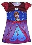 Frozen Dress Elsa & Anna Summer Dress For Girls Party Princess Dress (M, Anna)