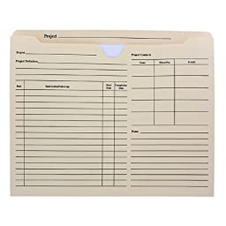 Smead Letter Size Printed Forms Project Jackets, Manila, Reinforced Tabs, 10/Pack