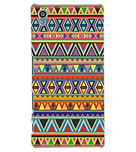ColourCraft Tribal Pattern Design Back Case Cover for SONY XPERIA Z5