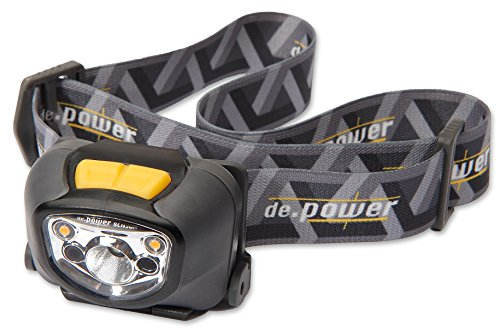 De.Power Led Headlamp Dp-802Aaa-C, Sensor Auto-Dimming, Cool White Spot Light 181 Lm (Ansi), 140° Warm White Ambient Light