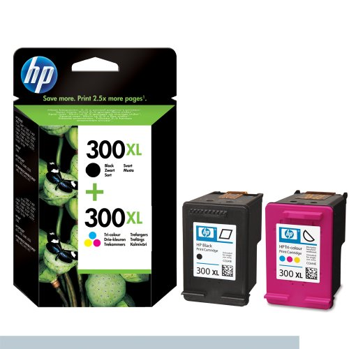 HP No300XL Black and Colour LongLife Ink Pack
