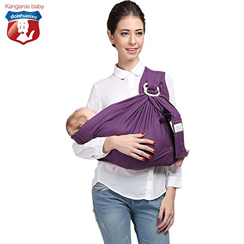 Read About Kangaroobaby Baby Sling Wrap Carrier One Size Fits All Adjustable Pouch for Newborn to 33...