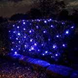 100 Blue LED Solar Powered Garden Net Light 1.5m x 0.8m by Lights4funby Lights4fun