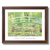 Framed Cherry Claude Monet Japanese Bridge Flower Landscape Pictures Art Print