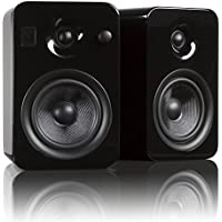 Kanto YUMI Premium Powered Bookshelf Speakers with Wireless Bluetooth (Gloss Black)