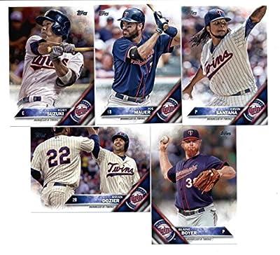 2016 Topps Baseball Series 1 Minnesota Twins Team Set of 10 Cards (SEALED): Glen Perkins(#76), Miguel Sano(#78), Eddie Rosario(#128), Phil Hughes(#161), Minnesota Twins(#181), Kurt Suzuki(#208), Blaine Boyer(#235), Ervin Santana(#262), Joe Mauer(#286), Br