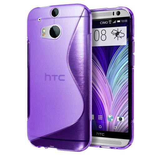 Cimo [FLEX GEL] HTC One M8 Case Premium TPU Ultra Slim Fit Cover for The All New HTC One / HTC One 2 / HTC One 2014 (2014) – Purple