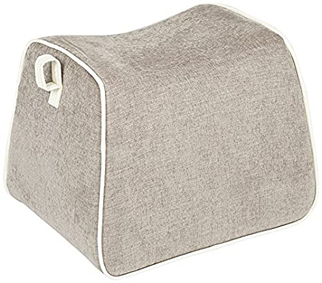 Rory Gray Fabric Saddle Ottoman