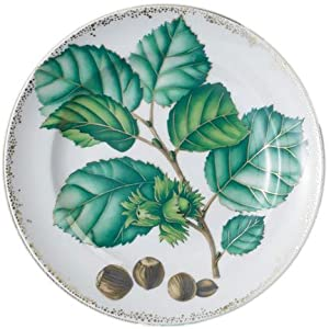 Mottahedeh Nut Leaf Cake Plate w/Hole 12 in