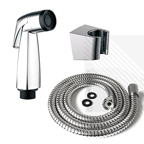 Bidet Shattaf Douche Spray Chrome Hygienic Toilet Shower Head Hose Set Muslim