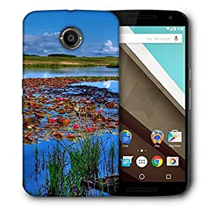 Snoogg Flowers On The River Designer Protective Phone Back Case Cover For Motorola Nexus 6