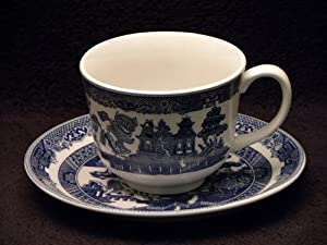 Johnson Bros. Blue Willow Cups & Saucers