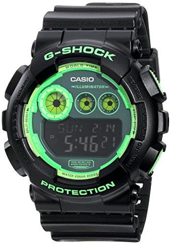 G-Shock Gd120N-1B3 Special Color Models Designer Watch - Black/Green / One Size