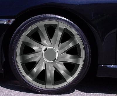 Radkappen Drift Graphit 14 Zoll Renault Clio Kangoo Megane Thalia Twingo von Autoteppich Stylers