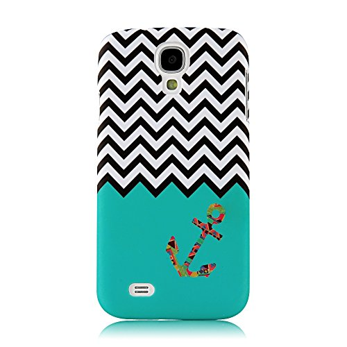 S4 Case, Galaxy S4 Case - Mollycoocle Fashion Style Colorful Painted Pattern Pc Hard Cover Case For Samsung Galaxy S4 I9500 I9505 Sph-L720 Sgh-I337 Sch-I545 Sgh-M919 Sch-R970 Samsung Galaxy S4 Lte-A(Anchor)