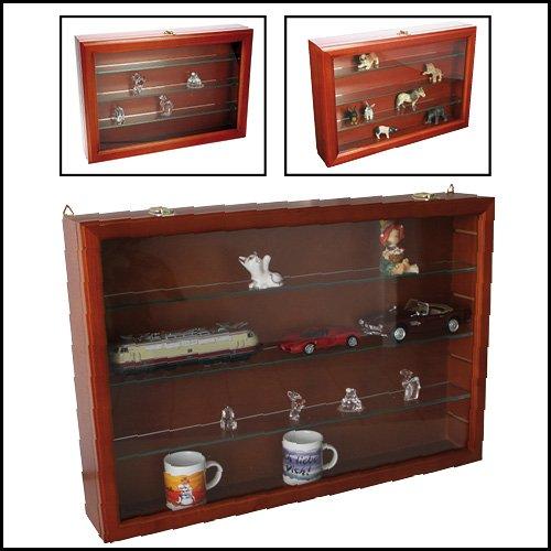 safe nr 5927 hochwertige holz vitrine maxi mit 3 x echtglasfachb den wandvitrine. Black Bedroom Furniture Sets. Home Design Ideas